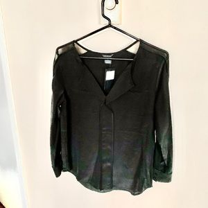 Club Monaco Long Sleeve Silk Top NWT XS